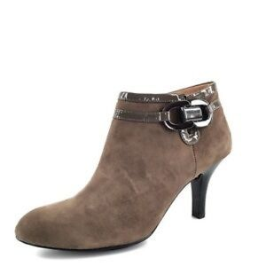 SOFFT Belvedere Brown Suede Zip Ankle Boots Size 8